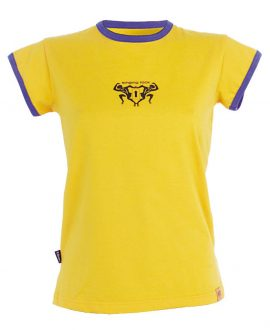 T-SHIRT BACKBONE / yellow
